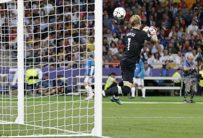 Karius produced a massive clanger, fumbling Bale's stinging shot into the net to ensure Madrid doubled their lead