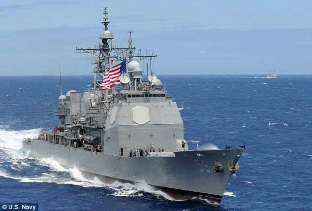 The USS Princeton (seen in file photo) made multiple radar contacts with the objects in 2004