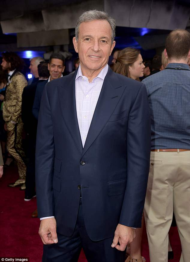 President Trump complained Disney CEO Bob Iger never called him to apologize. Iger, who had considered challenging Trump in 2020, is pictured here in early May at the premiere of 'Solo: A Star Wars Story'