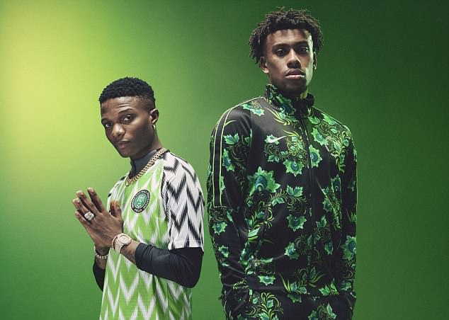 Alex Iwobi features in the promotion for the new collection as Nigeria gear up for World Cup