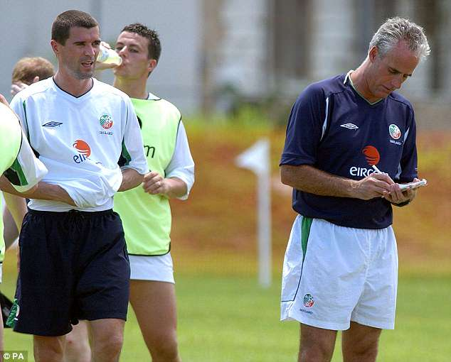 Roy Keane and Mick McCarthy had their very own Irish civil war before the 2002 World Cup