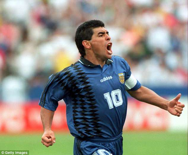 Diego Maradona scored one of the goals of the 1994 tournament but then failed a drugs test