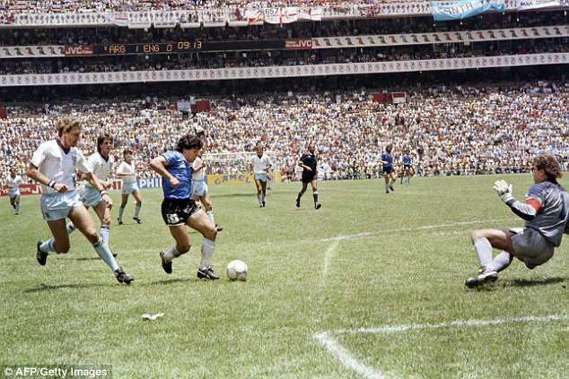 After his 'Hand of God', the Argentine then scored the 'Goal of the Century' in the same game