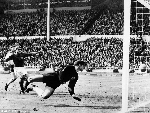 Geoff Hurst's third goal against West Germany in the 1966 final has provoked fierce debate