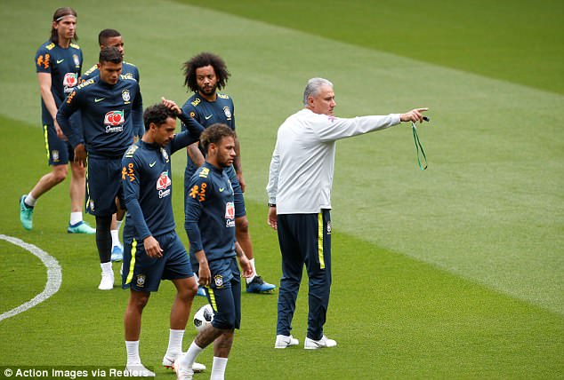 Head coach Tite directs his players as they gear up to face Luka Modric and Co at Anfield