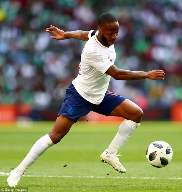 Raheem Sterling played for 73 minutes as England beat Nigeria at Wembley on Saturday night