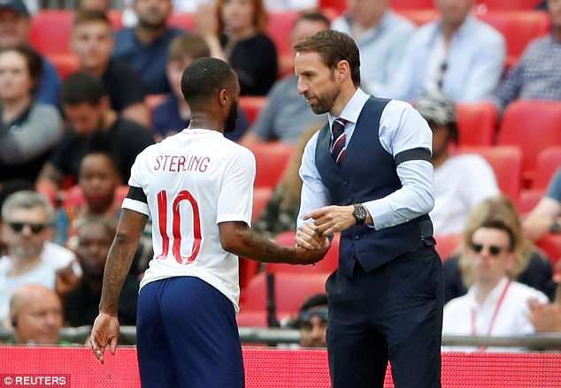 England manager Gareth Southgate had admitted to having doubts about picking Sterling