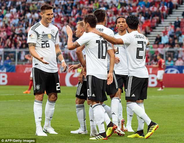 Austria keeper Joerg Siebenhandl cleared ball straight to Ozil, who finished for the opener