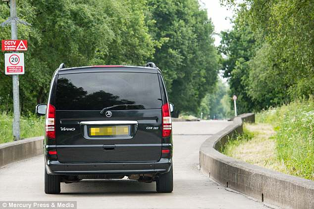 Fred was driven into the club's training base in a black Mercedes van ready for his medical