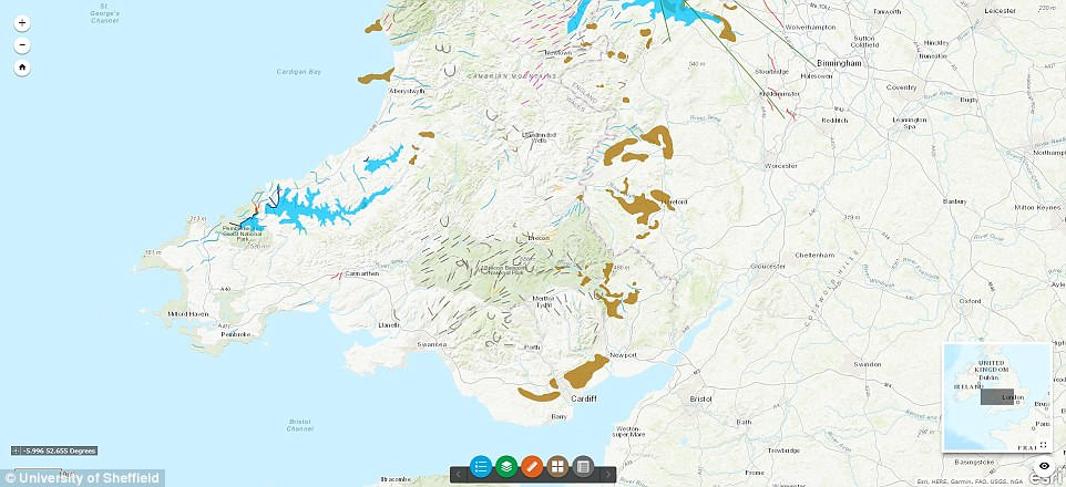 The Britice project, funded by the Natural Environment Research Council, has seen researchers work for six years to model the build-up and retreat of the last British-Irish ice sheet. This image shows what Wales would have looked like