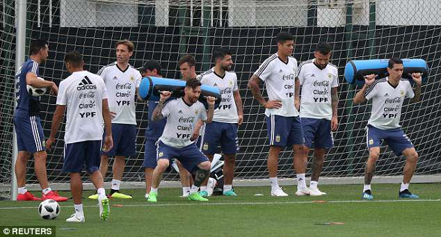 Messi (c) grapples with the load but it will pale in comparison to weight of expectation on him