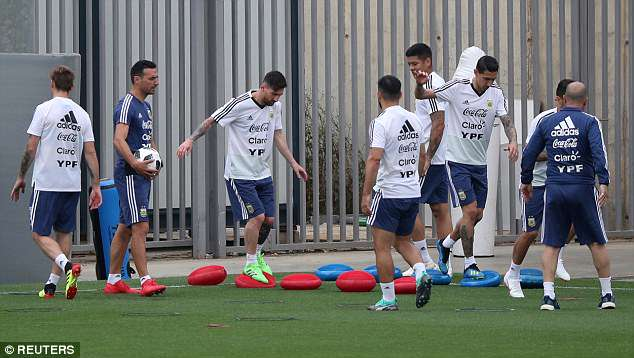 Argentina squad have been preparing for the World Cup and have one final friendly with Israel