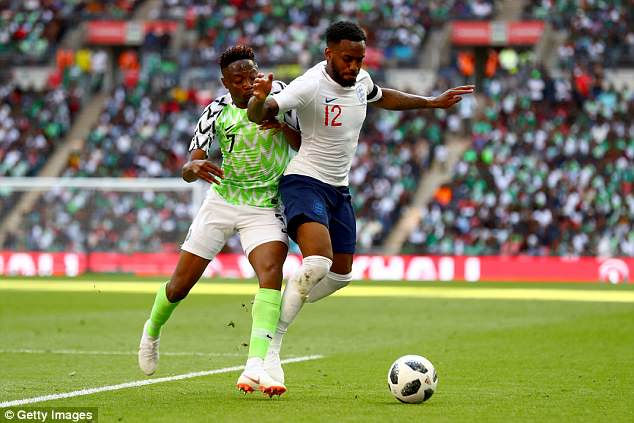 Rose, 27, seen in action against Nigeria, was worried his loved ones could be racially abused