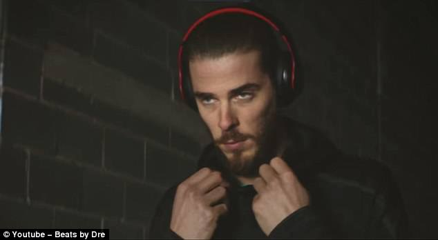 Spain's goalkeeper David de Gea also features in the star-studded Beats by Dre advert