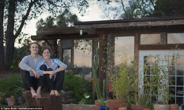 Architecture student Taylor Bode and his wife, preschool teacher and yoga instructor Steph, both 31, from Milwaukee, Wisconsin, decided to build their own home in an effort to reconnect with nature