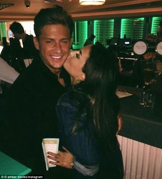 All over:Amber recently revealed she broke up with James Hawkins after a brief romance, confessing the relationship 'fizzled out'