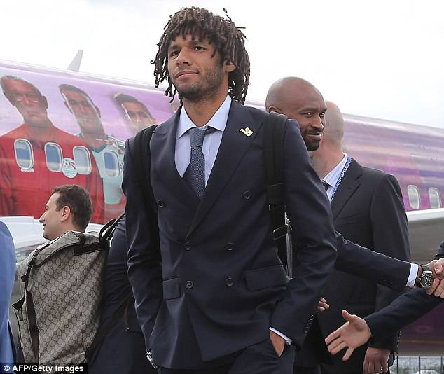 Arsenal midfielder Mohamed Elneny sets foot on Russian soil  on Sunday afternoon