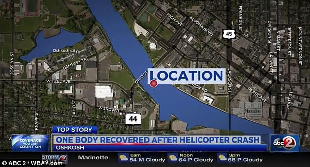 It fell in Oshkosh, Wisconsin into the Fox River, halting boat traffic for hours