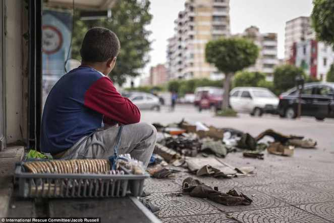 'The Syrian refugee parents we speak with don't want to send their children to work, but for many it is the only way they can afford to put food on the table or keep a roof over their heads,' said Sara Mabger, the IRC's Child Protection Co-ordinator in Lebanon