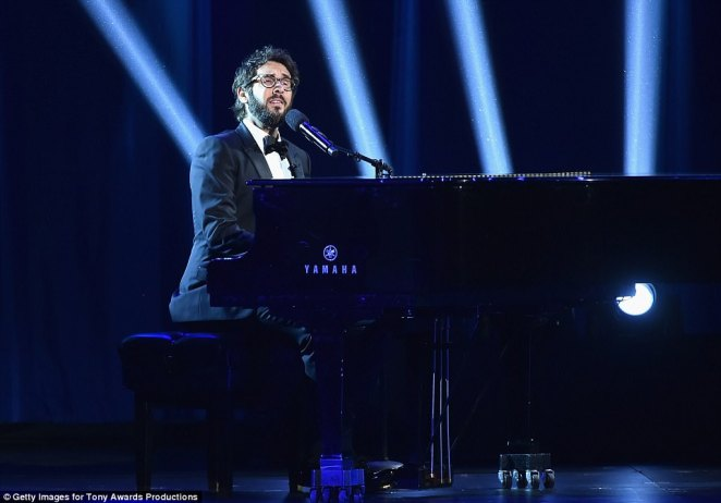 I love a piano: Josh and Sara began the proceedings onstage sitting opposite each other, playing dueling pianos as they wanly introduced themselves: 'Neither one of us has ever won anything'