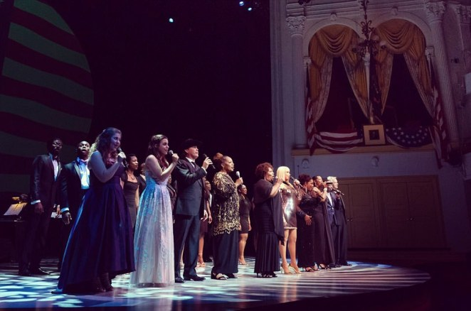 The First Lady delivered remarks at the end of the Sunday night's performances thanking Ford's Theatre and the performers for a wonderful evening