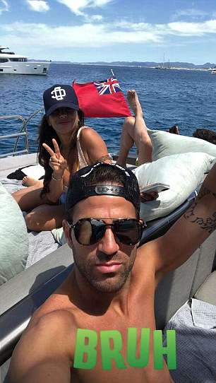 Fabregas also posted a snap of his account of him with his stunning wife Daniella Semaan