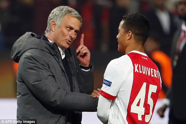 Manchester United manager Jose Mourinho is understood to be an admirer of Kluivert's