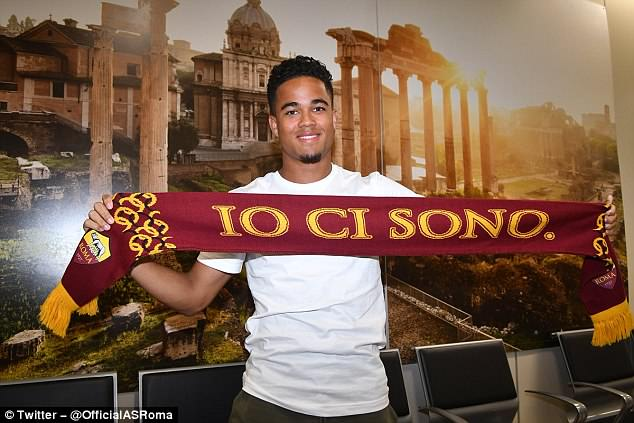 Justin Kluivert has made the move from Ajax to Roma for a fee of £15.85million