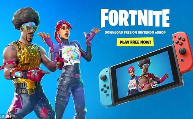 Fortnite Is Now Available On Nintendo Switch But Sony Is