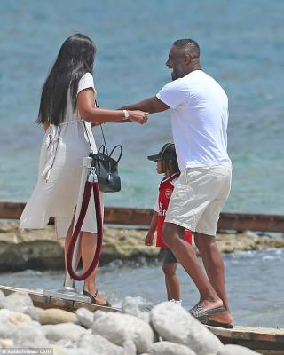 Idris Elba and fiancée Sabrina Dhowre soak up the sun in Ibiza