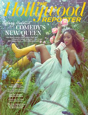 She ready: Haddish shared her story in The Hollywood Reporter (above)