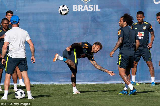 A lot of expectation will be on Neymar's (centre) shoulders with the forward their talisman