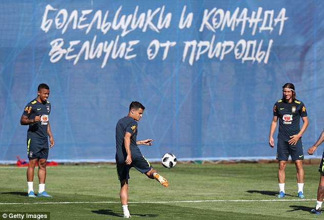 Philippe Coutinho (centre) will also be expected to pull the strings from a deeper role in Russia