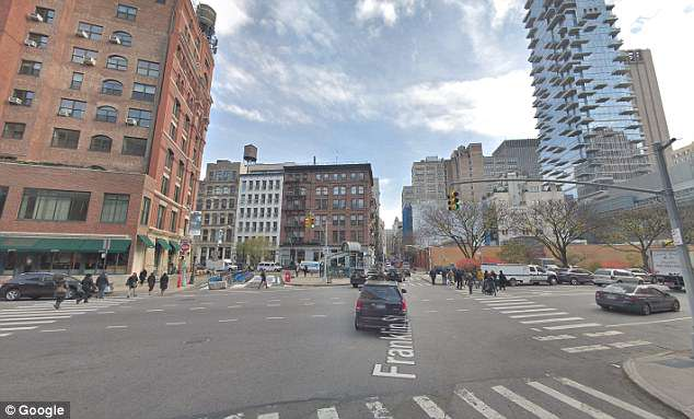 Heart of Manhattan: The incident took place at Varick and Franklin streets in Tribeca