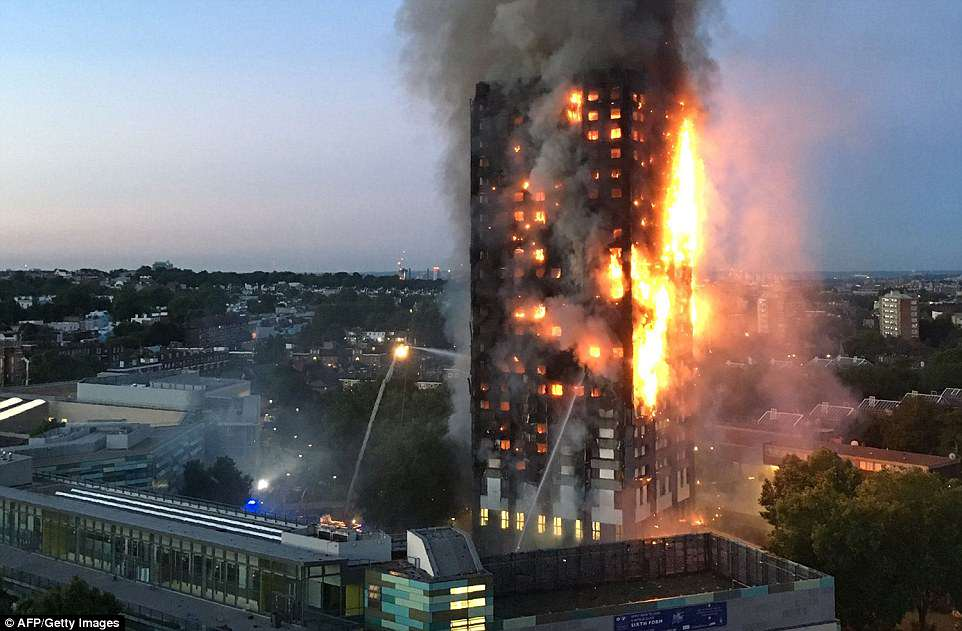 One year on: Grenfell Tower went up in flames in the early hours of June 14, 2017