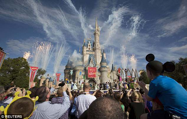 In it, he threatened to go and 'shoot up' Walt Disney World (pictured) if his comment got enough likes