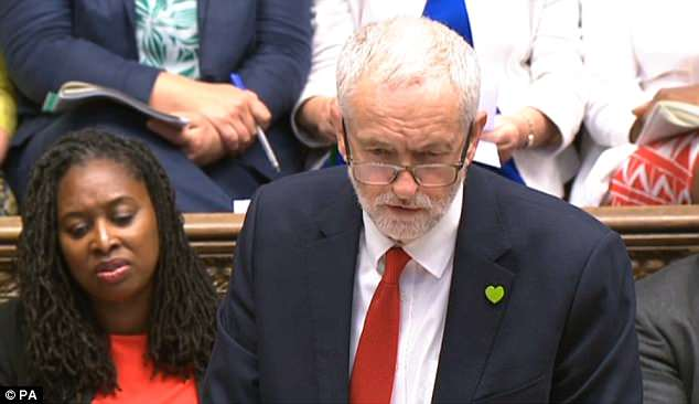 Jeremy Corbyn (pictured at PMQs) suffered a major rebellion last night in a vote on whether Britain should stay in the EU single market - the European Economic Area (EEA)