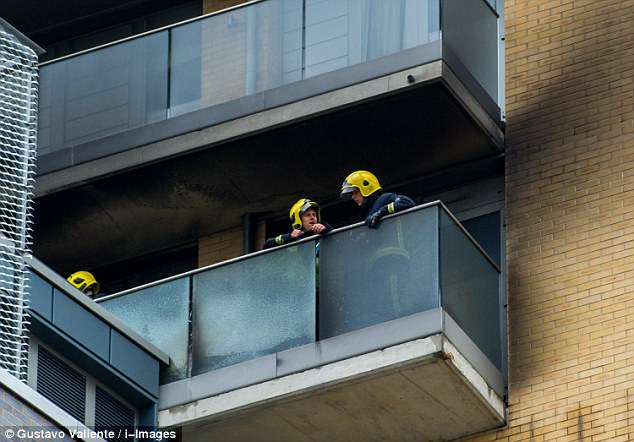 London Fire Brigade said around 150 people left the building before firefighters arrived