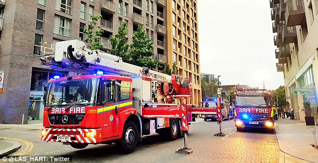 The London Fire Brigade is now investigating the cause of the fire in Lewisham this morning