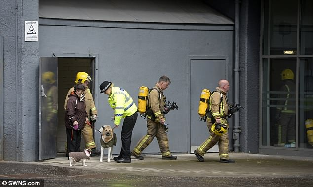 Five people were rescued from the building in Glasgow today and the fire was contained
