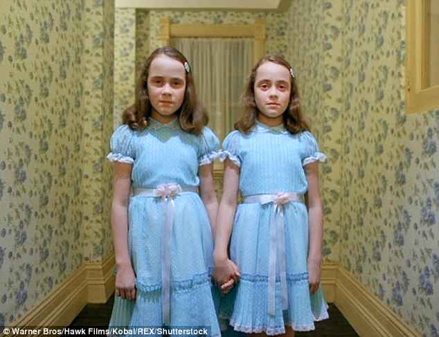 Troublesome twosome: The appearance of The Grady Twins were also a particularly iconic scene. Played by Lisa and Louise Burns, the sisters are now 50 years old