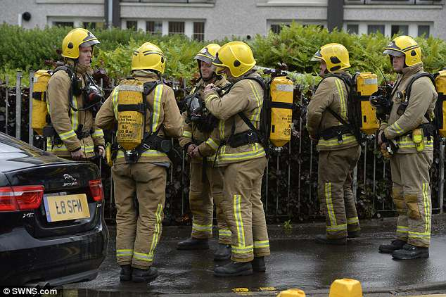 More than ten fire crews, police and other emergency services went to the scene in Glasgow