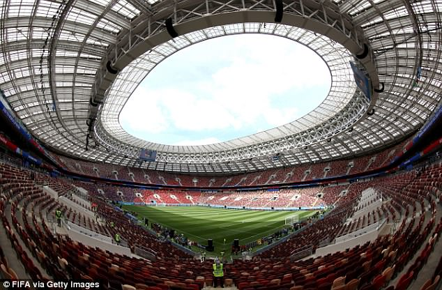 The Luzhniki Stadium will host the opening game for the FIFA World Cup finals