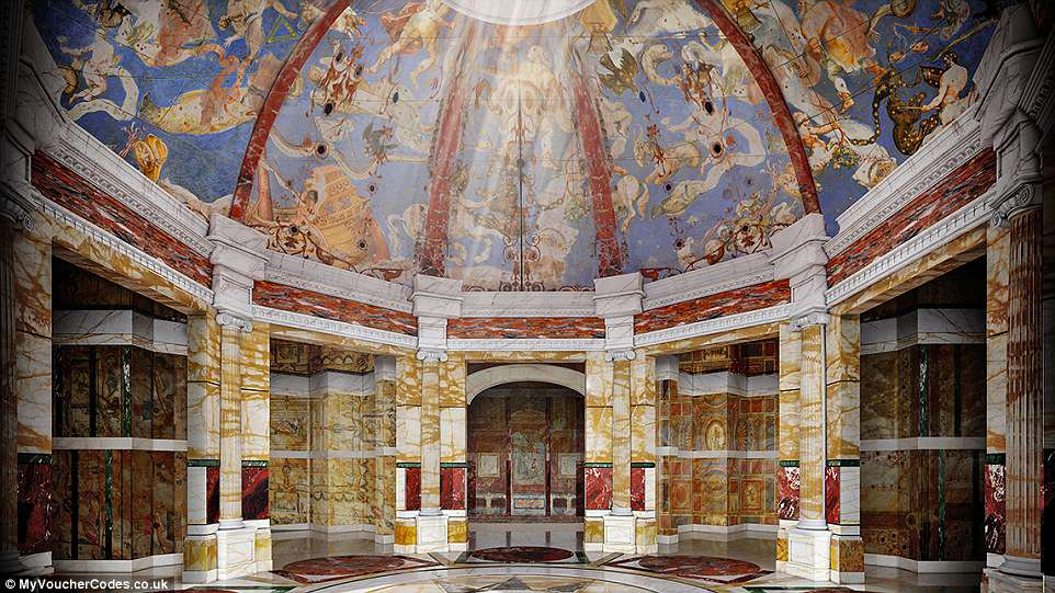But when it was first built, experts believe the building had gem-encrusted walls as well as mother-of-pearl decorations and ceilings