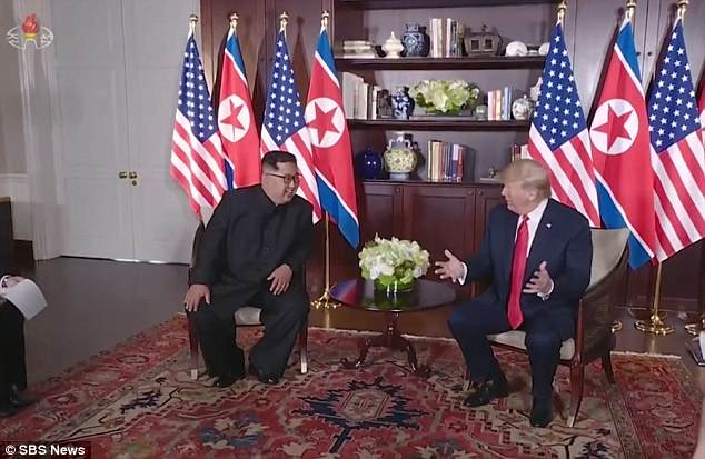 'Who could have imagined that the two leaders meet and take a big first step toward reconciliation,' Ri said in her narration