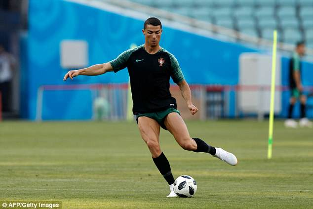 Ronaldo appears to be in peak physical condition ahead of Portugal's World Cup campaign