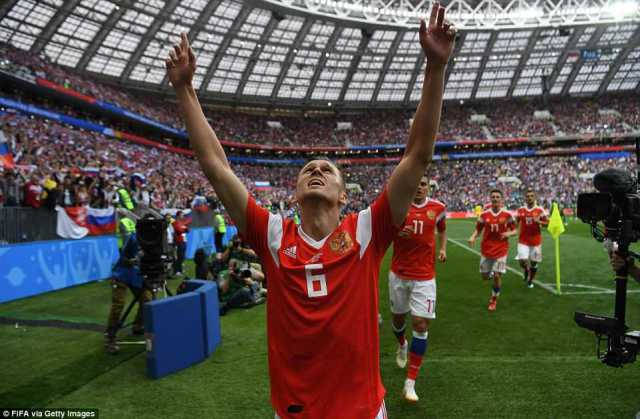 The goal clearly meant a lot to the 27-year-old as he pointed to the heavens after scoring his first goal of this tournament