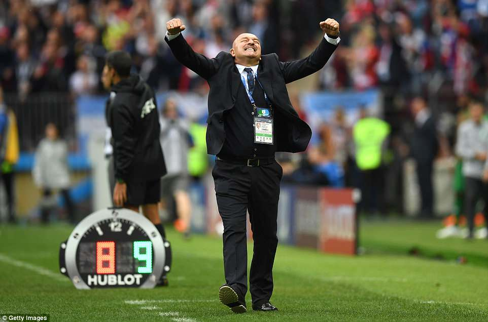His emotion was matched byCherchesov who saw his substitution pay off in the most brilliant of fashions