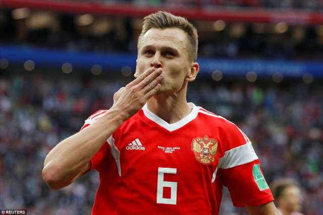 Cheryshev scored his side's fourth of the game with a truly stunning strike worthy of winning any match at this tournament