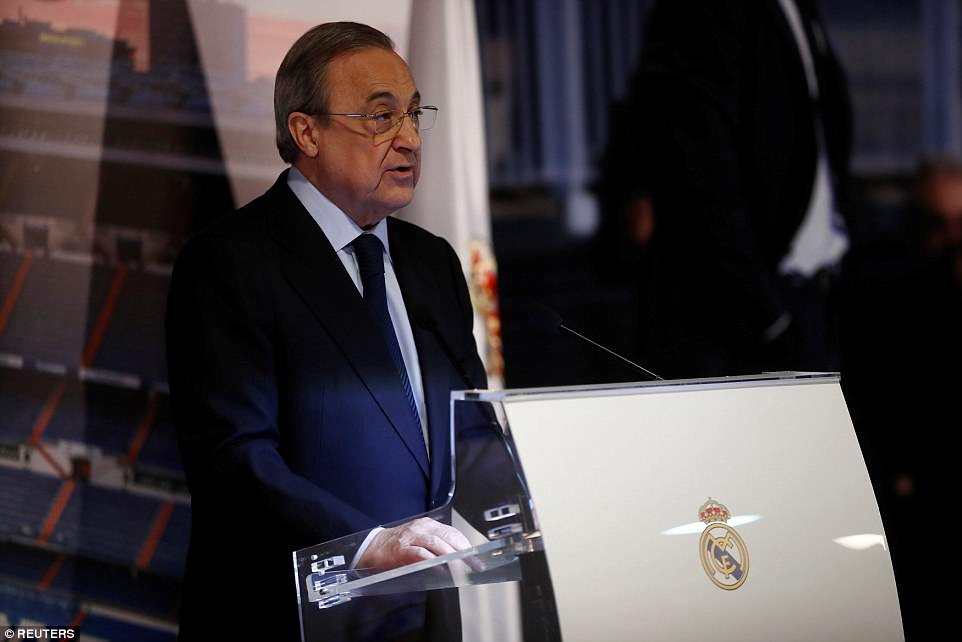 Real president Florentino Perez criticised the Spanish FA for sacking Lopetegui two days before their World Cup opener